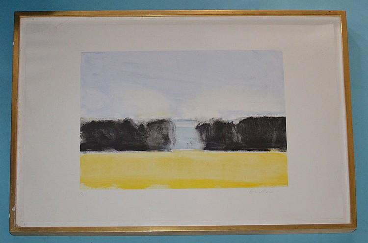 Eric Aho Signed Landscape #3 Monoprint
