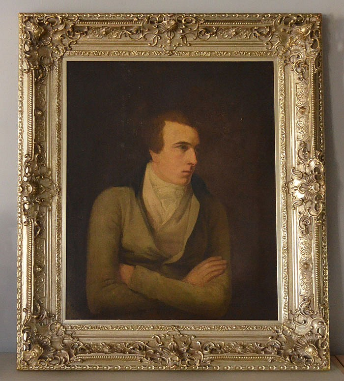 Circa 1810 British Portrait Painting of PB Shelley