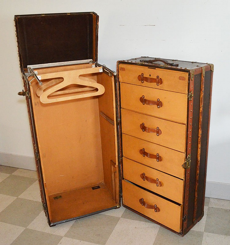 Diana Barrymore's Louis Vuitton Wardrobe Trunk