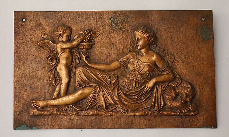 Neoclassical Roman Bronze Relief