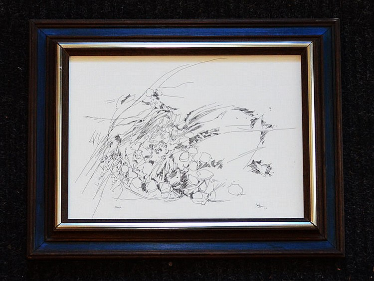Charles Seliger Pen & Ink Drawing