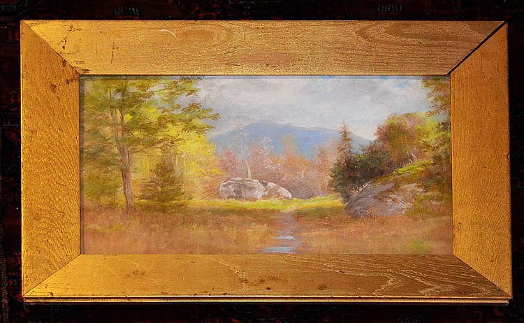 Willard Leroy Metcalf Pastel Landscape Painting