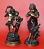 2 Bronze Children Statues After Auguste Moreau