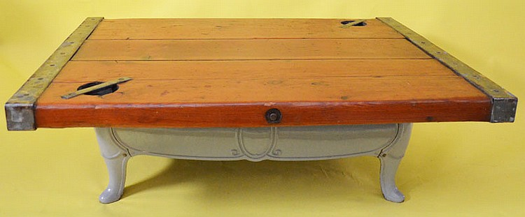 Wooden Ship Hatch Cover Coffee Table