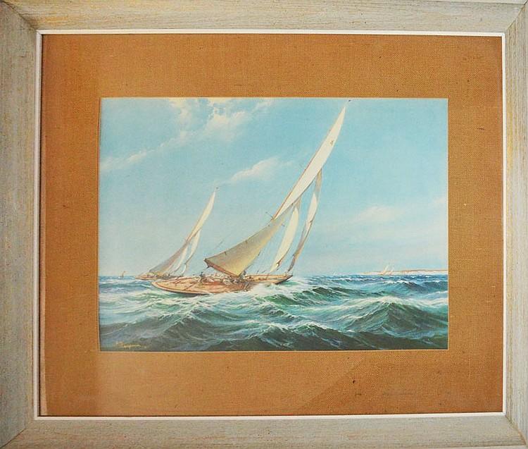 Large Framed MacGregor Ship Print