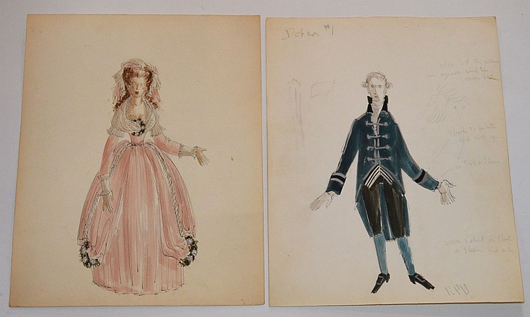 2 Raoul Pene Du Bois Fashion Drawings