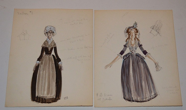 2 Raoul Pene Du Bois Fashion Drawings