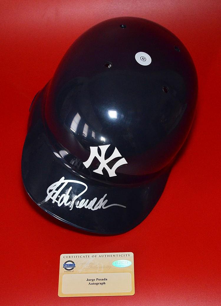 Jorge Posada NY Yankees Signed Baseball Helmet