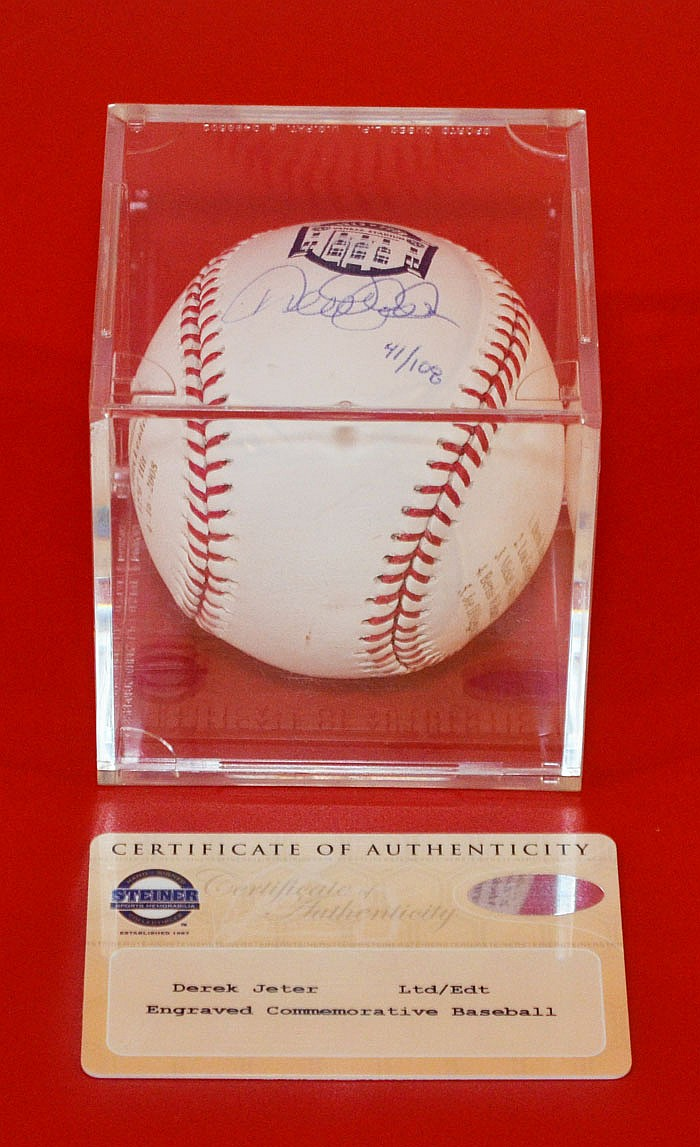 Derek Jeter NY Yankees Signed Baseball