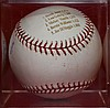 Derek Jeter NY Yankees Signed Baseball