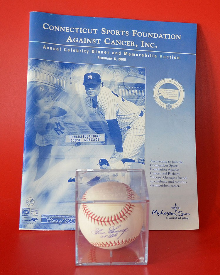 Signed Goose Gossage NY Yankees Baseball