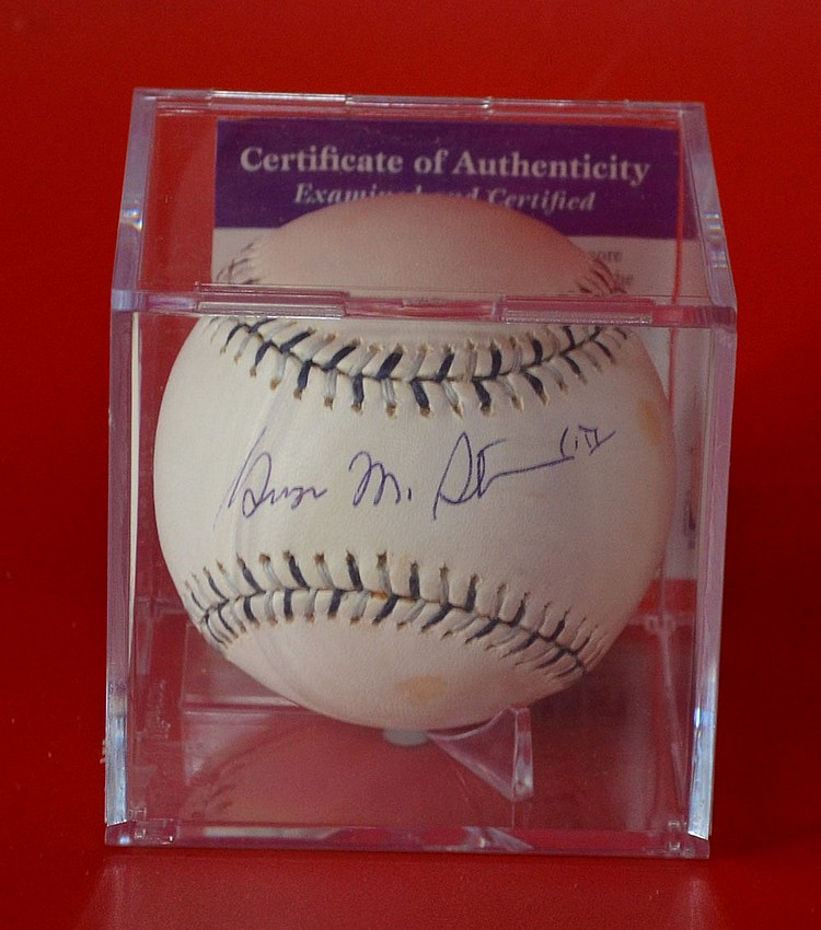 NY Yankees George Steinbrenner Signed Baseball