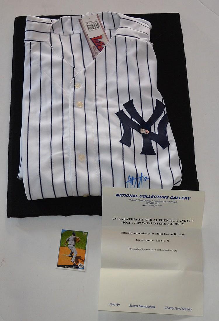 Signed CC Sabathia NY Yankees Jersey