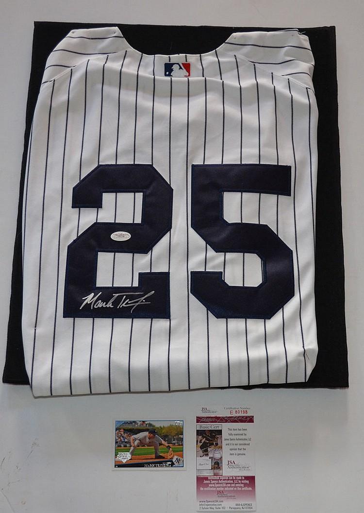 Mark Teixeira Signed NY Yankees Jersey