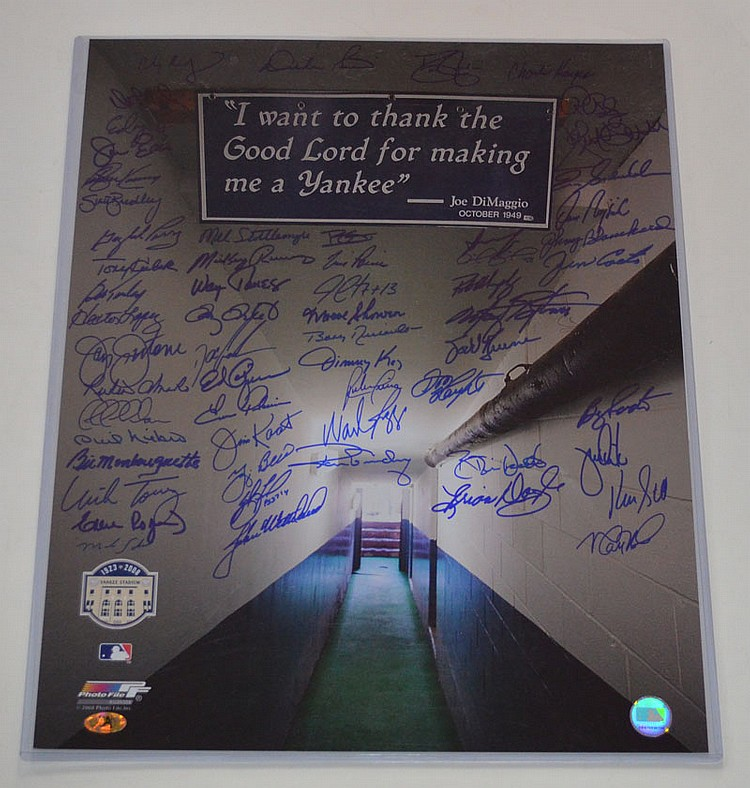 Yankee Tunnel Photo Signed by 57 Players