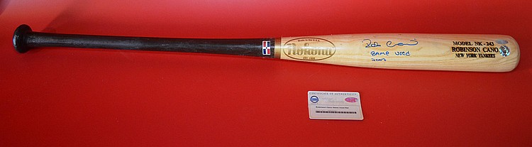 Robinson Cano Signed NY Yankees Baseball Bat