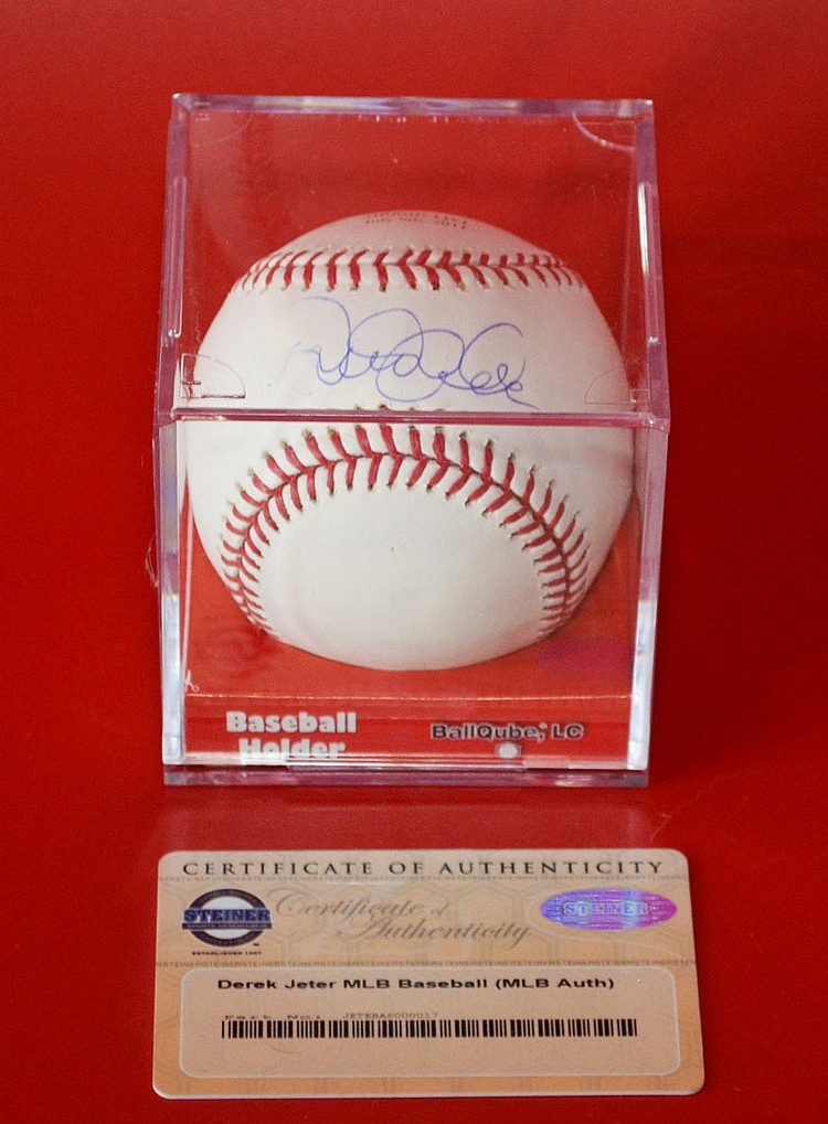 Derek Jeter 3000th Hit Signed Baseball