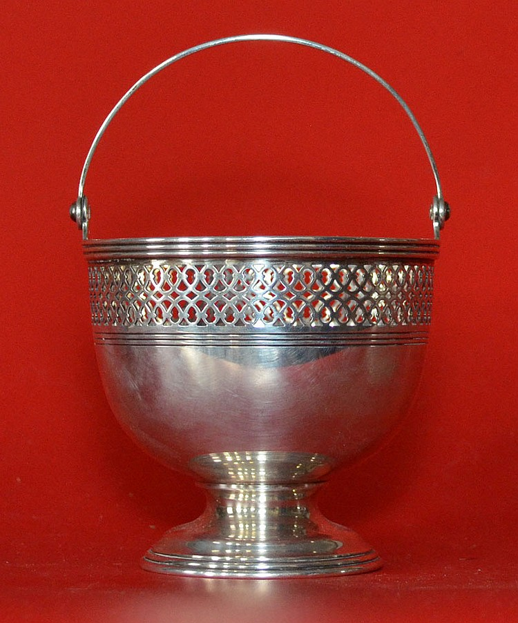 Tiffany & Co Sterling Handled Basket Dish