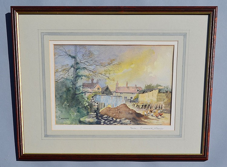 Peter Catterall Farmscape Watercolor Painting