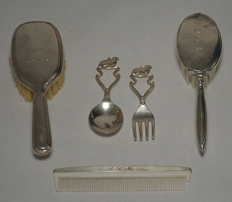 Collection of Sterling Silver Baby Accessories