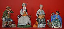 4 Royal Doulton Porcelain Figurines