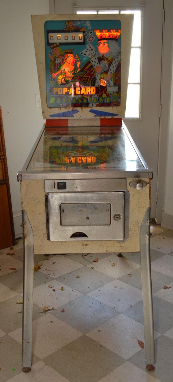 Pop A Card  D. Gottlieb & Co  Pinball Machine