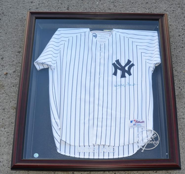 Signed Whitey Ford Yankees Jersey