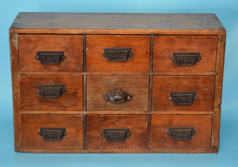 Lot 8: Charming Diminutive Antique Apothecary Cabinet - Charming Diminutive Antique Apothecary Cabinet