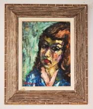 Harry Shoulberg Oil Painting of a Girl
