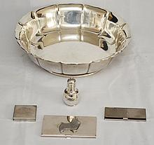 Large Sterling Bowl and Tiffany & Co Shaker
