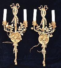 Large Classical Gold Gilt Sconces