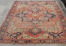 Large Antique Serapi Oriental