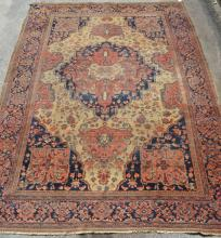 Large Antique Serapi Sarouk Oriental Rug