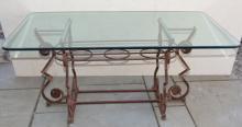 Mid Century Designer Custom Made Cast Iron Table
