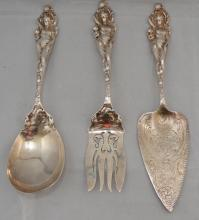 3 Reed & Barton Sterling  Love Disarmed Serving Pieces