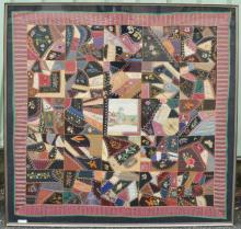 1880 Mary Waller Framed Crazy Quilt