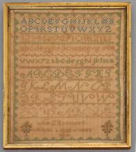 1864 sampler By  S. Hannaford Age 6 Years Old