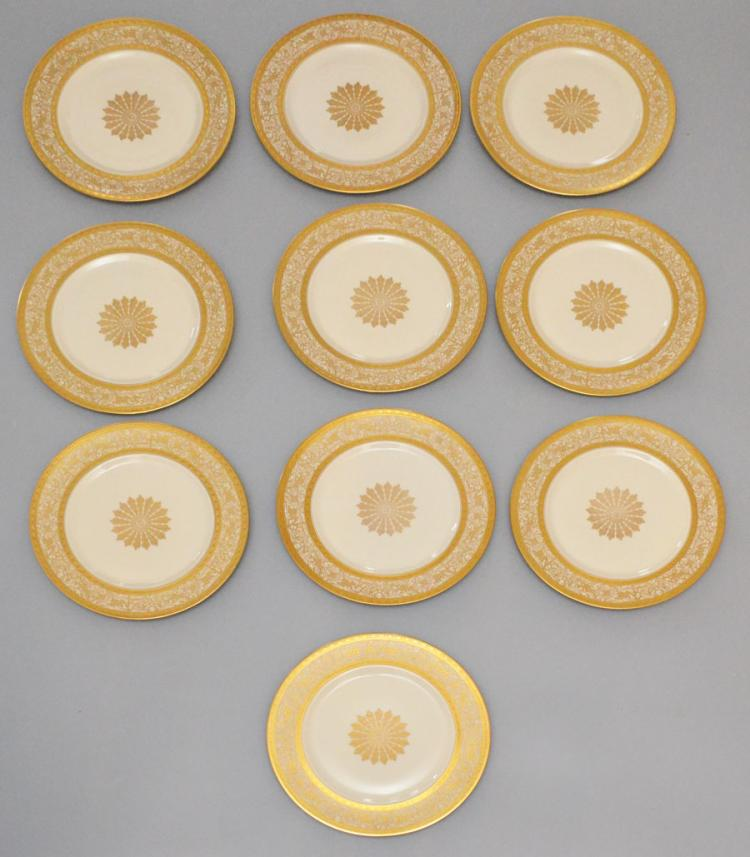 12 Heinrich Gold Encrusted plates