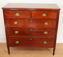 A Truly Handsome Antique English Mahogany Dresser