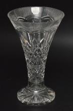 Monumental Lismore Waterford  Cut Crystal Vase