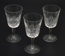 12 Waterford Lismore Water Goblets