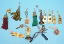 Collection of Vintage Hotel Keys (US, France, Italy)