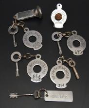 Collection of Vintage Hotel Keys (Le Bristol Paris, etc)