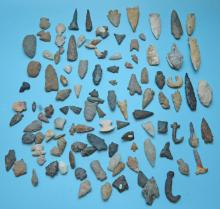 Lot Of Ancient Native American Arrowheads