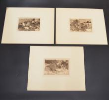 3 Saucy Signed & Numbered Etchings