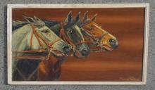 1962 Morris Katz Horse Painting on Board