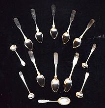 Lot of Sterling & Coin Silver Spoons
