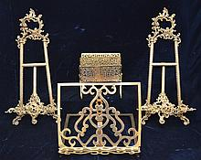 Large Collection of Brass Easels