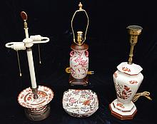 Vintage Decorative Porcelain Lamp Lot