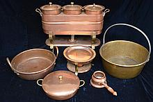 Vintage Copper Pots & Chaffing Sets